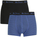 Pack de 2 Boxers Ben Sherman Stripe para Hombre - Negro/Azul