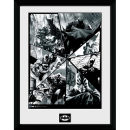 DC Comics Batman Comic Collage - Framed Photographic - 16 x 12inch