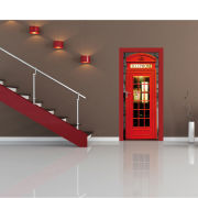 London Phone Box Door Mural