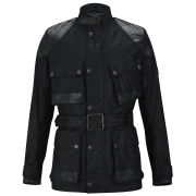 Knutsford Men's Wax Cotton Field Jacket with Detachable Inner Liner - Black