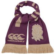 Canterbury Men's England Rugby Acrylic Scarf - Burgundy/Gold