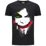 DC Comics Men's Joker Big Face T-Shirt - Black