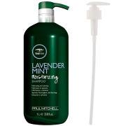 Paul Mitchell Lavender Mint Moisturising Shampoo (1000ml) With Pump (Bundle)