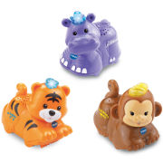 Vtech Toot-Toot Animals - 3 Pack (Tiger, Hippo, Monkey)