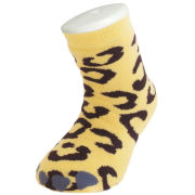 Silly Socks Kids' Slipper Socks - Thick Leopard Feet UK 1-4