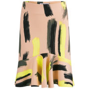 Vero Moda Women's Kira Scuba Print Skirt - Tropical Peach