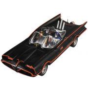 Hot Wheels Elite DC Comics Batman 1966 Batmobile With Figures 1:18 Scale Set