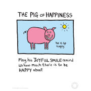 Edward Monkton Kunstdruck - Pig of Happiness