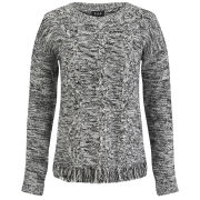 VILA Women's Lokker Fringed Jumper - Birch