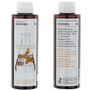 KORRES Shampoo Sunflower and Mountain Tea for farget hår