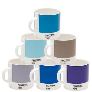 Pantone Universe Set of 6 Espresso Cups - Mixed Blues