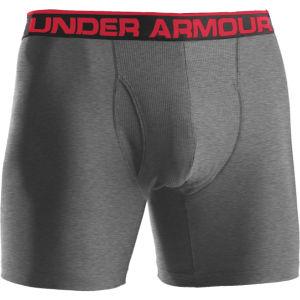 Under Armour Herren Original Boxer Jock 6 Zoll Boxershorts - True Grau/Heide/Rot