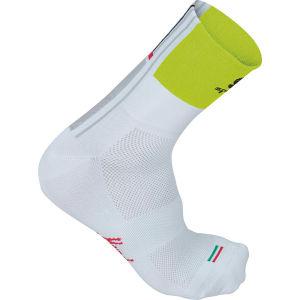 Sportful Gruppetto 12Cm Socks - White/Yellow