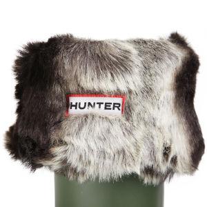 Hunter Women's Soft Furry Cuff Welly Socks - Chinchilla Grey
