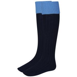 Hunter Women's Balmoral Socks - Navy/Powder Blue