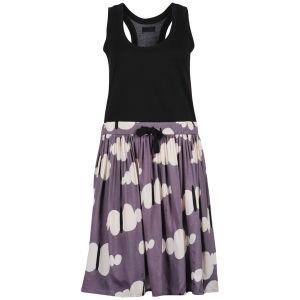 nümph Womens Vibe Cloud Print Dress -Shade Grey