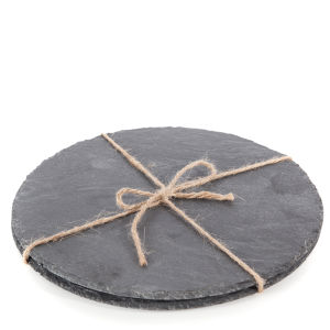 Natural Living 2 Piece Circular Slate Placemats