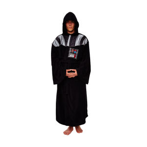 Star Wars Men's Darth Vader Adult Fleece Robe - Black