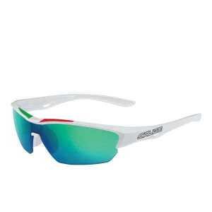Salice 011 ITA Sports Sunglasses - Mirror - White/RW Green
