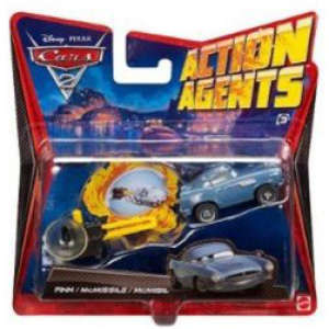 Cars 2 - Action Agents Vehicle and Launcher Finn Mcmissile