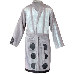 Doctor Who Silver Dalek Towelling Robe