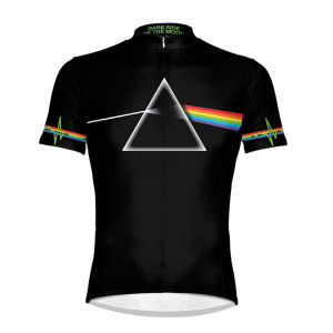 Primal Pink Floyd Dark Side Short Sleeve Jersey - Black/White/Rainbow
