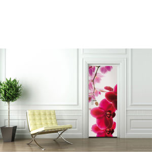 Orchid Flower Door Mural