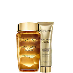 Kérastase Elixir Ultime Huile Lavante Bain (250 ml) and Creme Fine (150 ml) Duo Bundle