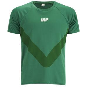T-Shirt Running Myprotein da Uomo - Verde
