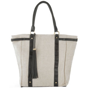 Stylist Pick 'Lauren' Canvas Shopper - Cream