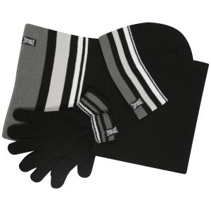 Everlast Men's 3-Pack Accessory Set - Black Striped