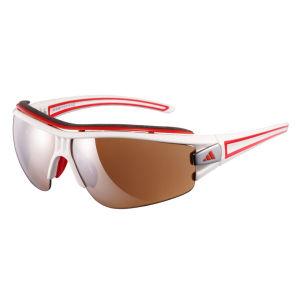 Adidas Evil Eye Halfrim Pro Sunglasses - Shiny White/Red - XS
