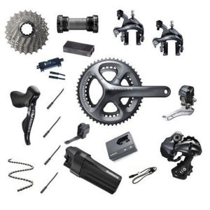 Shimano Ultegra Di2 6870 11 Speed 34/50 Compact Groupset - Grey External Wiring