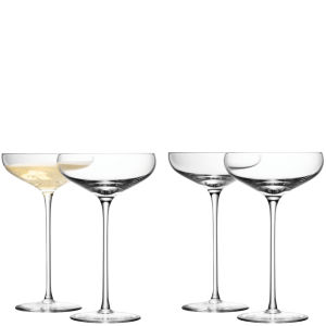 LSA Champagne Saucer 300ml Clear (Set of 4)