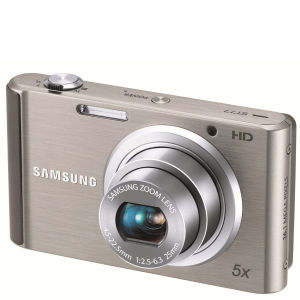 Samsung ST77 Compact Digital Camera (16MP, 5x Optical, 2.7Inch LCD) - Silver