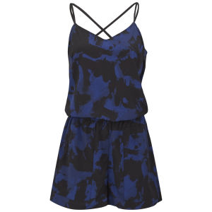 ONLY Women's Valentina Playsuit - Blue/Black