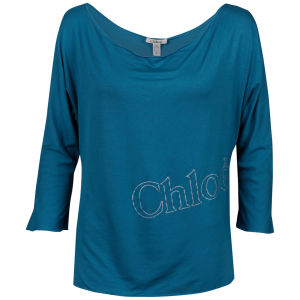 Chloe Women's Sweater With 3/4 Sleeves - Blue