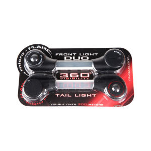 Fibre Flare Micro Flare Front and Rear Cycle Light Stick Set