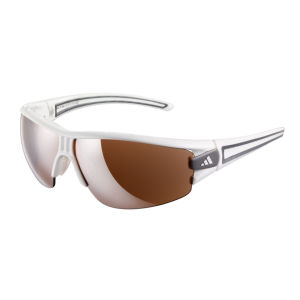 Adidas Evil Eye Halfrim Wrap Sunglasses - Shiny White   - L