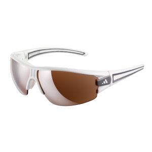 Adidas Evil Eye Halfrim Wrap Sunglasses - Shiny White   - L