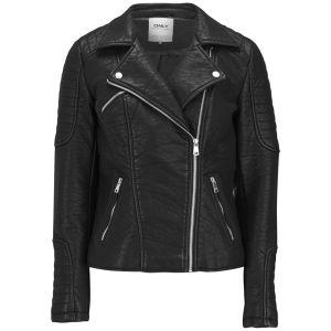 ONLY Women's Fly PU Biker Jacket - Black