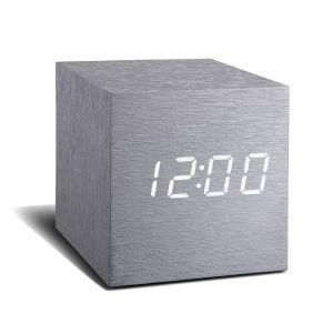 Gingko Elektrische Aluminium Click Clock Wecker Würfel