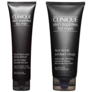 Clinique For Men Wash & Scrub (Extra Strength Bundle)
