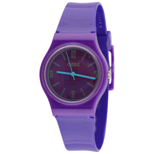 Oasis Women's Purple Round Plastic Watch