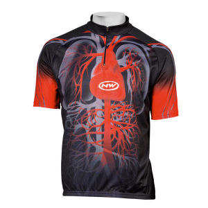 Northwave Heart Short Sleeve Jersey - Black/Red