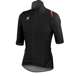 Sportful Fiandre Light No Rain Short Sleeve Jersey - Black/Red