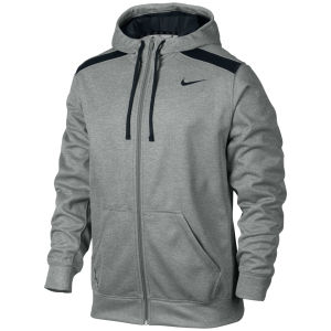 Nike Men's Shield Nailhead FZ Hoody - Dark Grey Heather