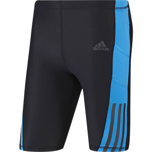 adidas Men's Supernova Short Tights - Black/Solar Blue
