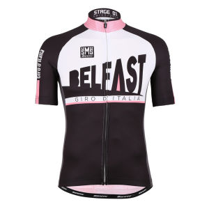 Giro Ditalia 2014 Stage 1 Belfast Short Sleeve Full Zip Jersey - Black