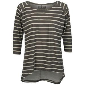 Brave Soul Women's Fraya Striped Top - Cream/Stone Grey